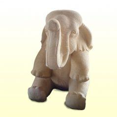 Sitzender Elefant als Gartenfigur aus Sandsteinguss Dekofigur