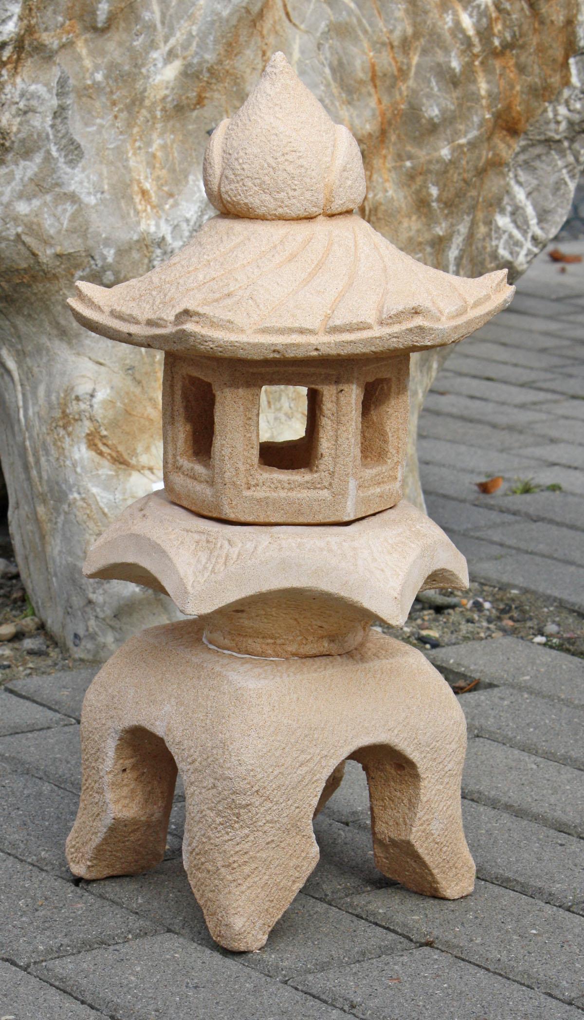 Japanische lampe sandfarben motiv 01 naturstein centrum lpm for Japanische gartenfiguren