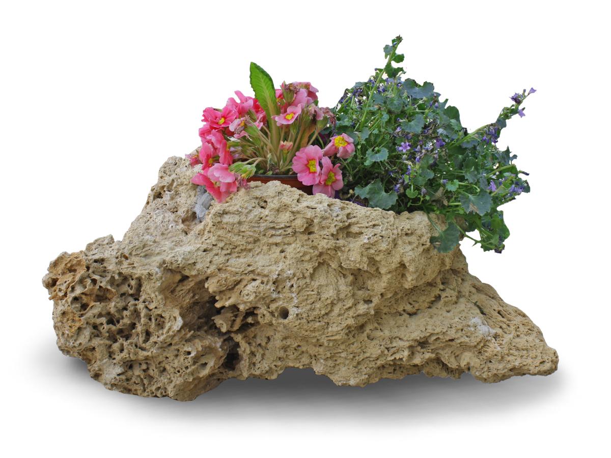 Geräumig Balkonkästen Bepflanzen Beispiele Sammlung Von Beispiel Einer Pflanzschale Aus Tuffstein Mit Bepflanzung