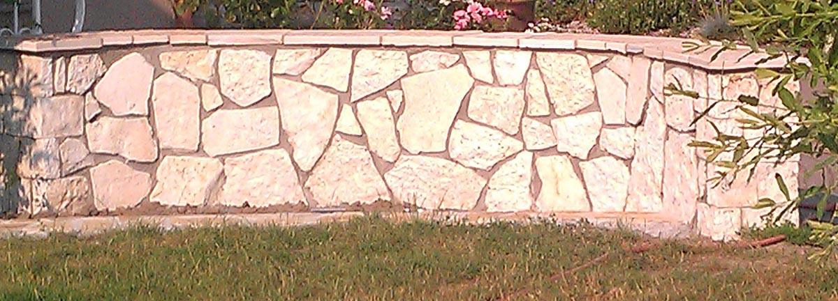Favorit Mauerverblender Polygonal weiß-creme-gelblich rustikal PF22