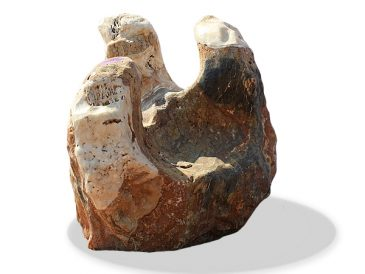 "Ozeanfindling Marmor-Kalkstein ""Sessel"" Skulpturstein"