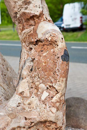 Skulpturstein Kralle