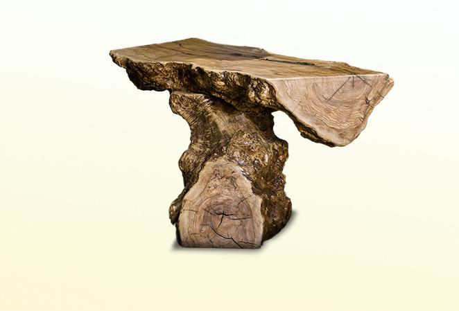 Tisch aus olivenholz naturstein centrum lpm for Naturstein tisch