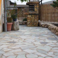 Quarzitplatte Polygonal Terrasse Weg Garten