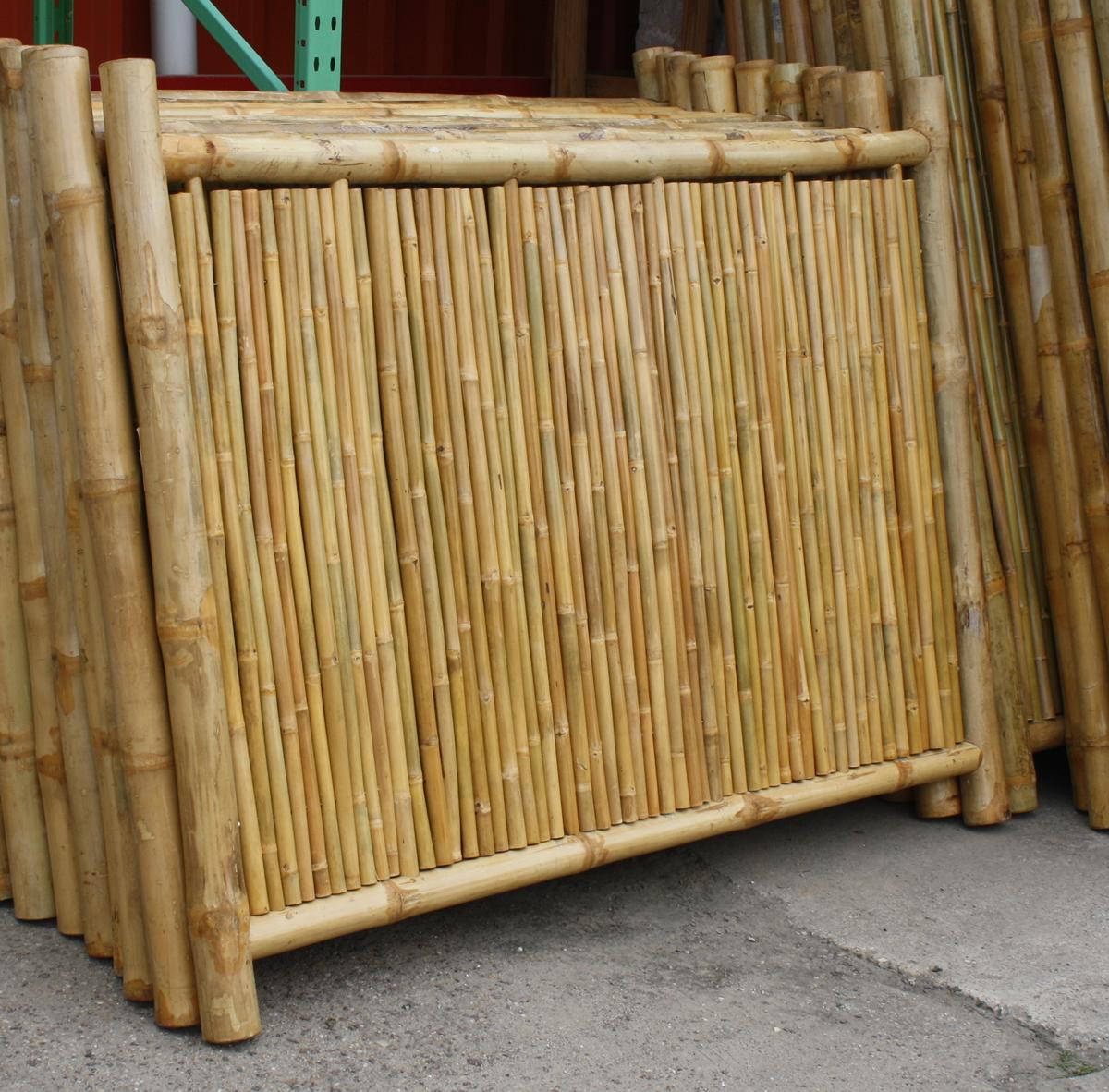 bambus sichtschutzelement bambuszaun 180 x 140 - naturstein centrum lpm