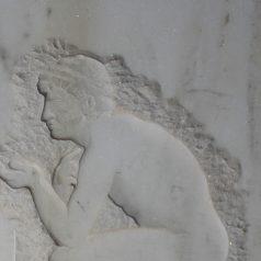 Marmorrelief aus Handarbeit hergestellt