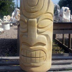 Skulptur Sandstein Tiki