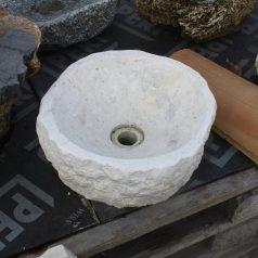 Waschbecken-Kalkstein-rund
