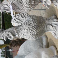 Hahn Gartenfigur aus Beton Naturstein Centrum LPM Krostitz bei Leipzig