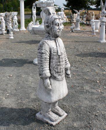 Chinesischer Krieger Deko Gartenfigur Betonfigur