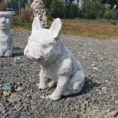 Französische Bulldogge als Gartenfigur Dekoartikel Betonfigur Naturstein Centrum LPM Krostitz bei Leipzig
