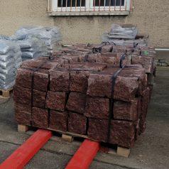 Mauerstein Granit Vanga rot allseits gebrochen 20 20 40 Naturstein Centrum LPM Krostitz bei Leipzig