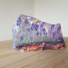 Lavendel Malerei auf Steinplatte kaufen bei Naturstein Centrum LPM Leipzig Krostitz