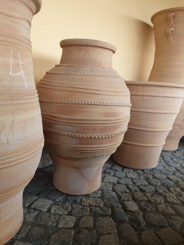 Pflanztopf Amphore Kreta Keramik Naturstein Centrum LPM Krostitz bei Leipzig