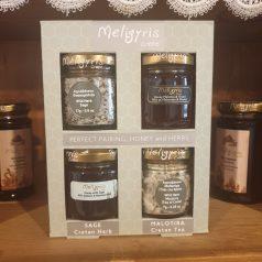 Geschenkbox Pinien Honig mit Nüssen